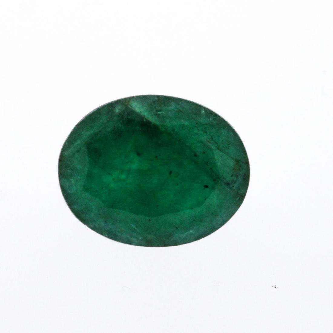 7.77 ct. One Oval Cut Natural Emerald