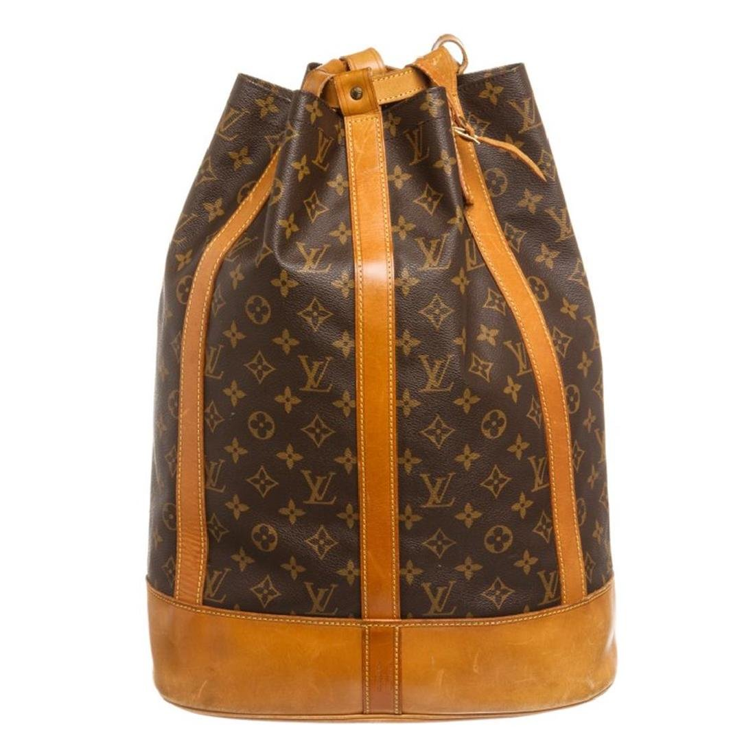 Louis Vuitton Monogram Canvas Leather Randonne Backpack