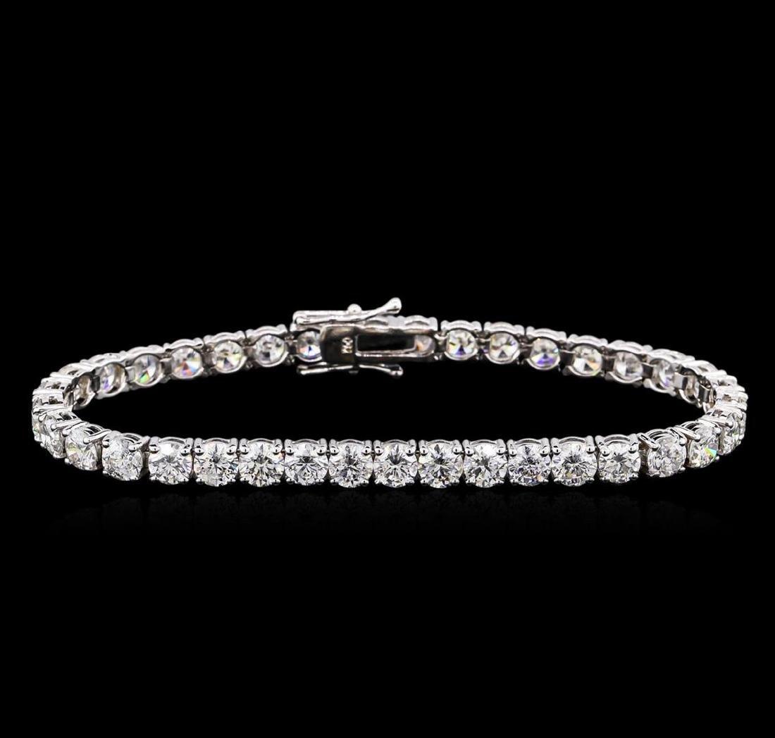 18KT White Gold 14.97 ctw Diamond Tennis Bracelet