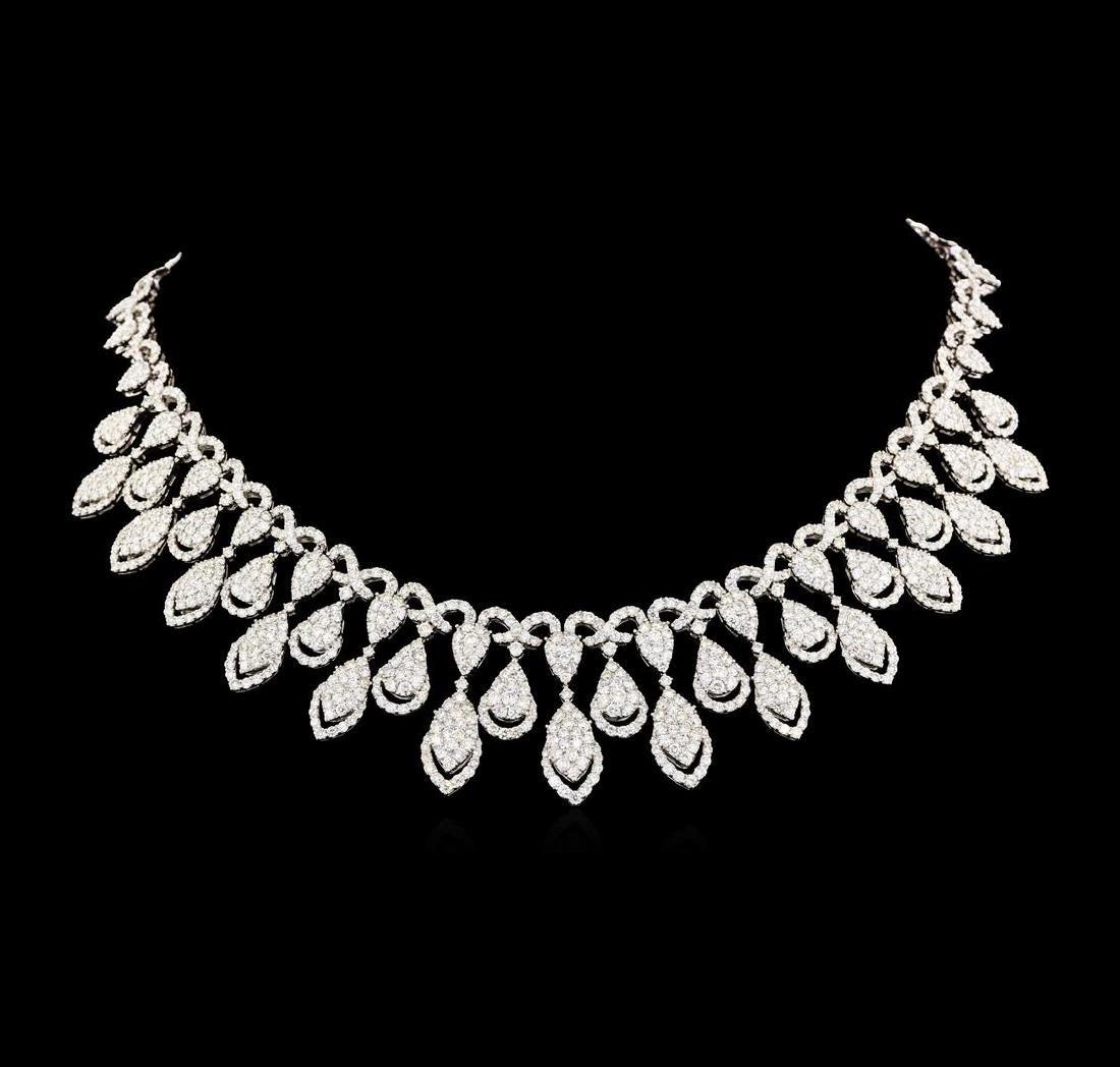 31.04 ctw Diamond Necklace - 18KT White Gold