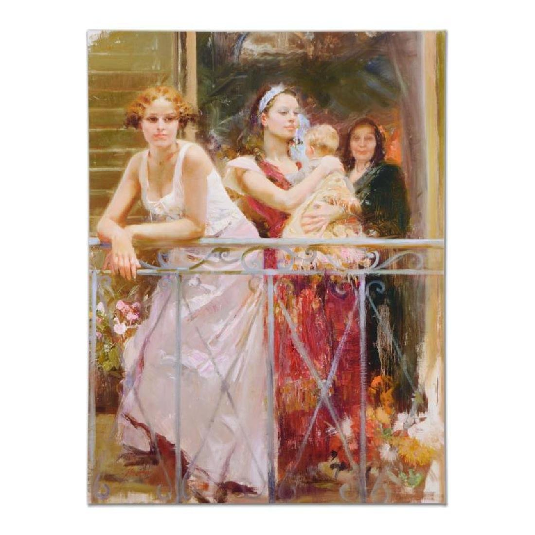 Waiting on the Balcony by Pino (1939-2010)
