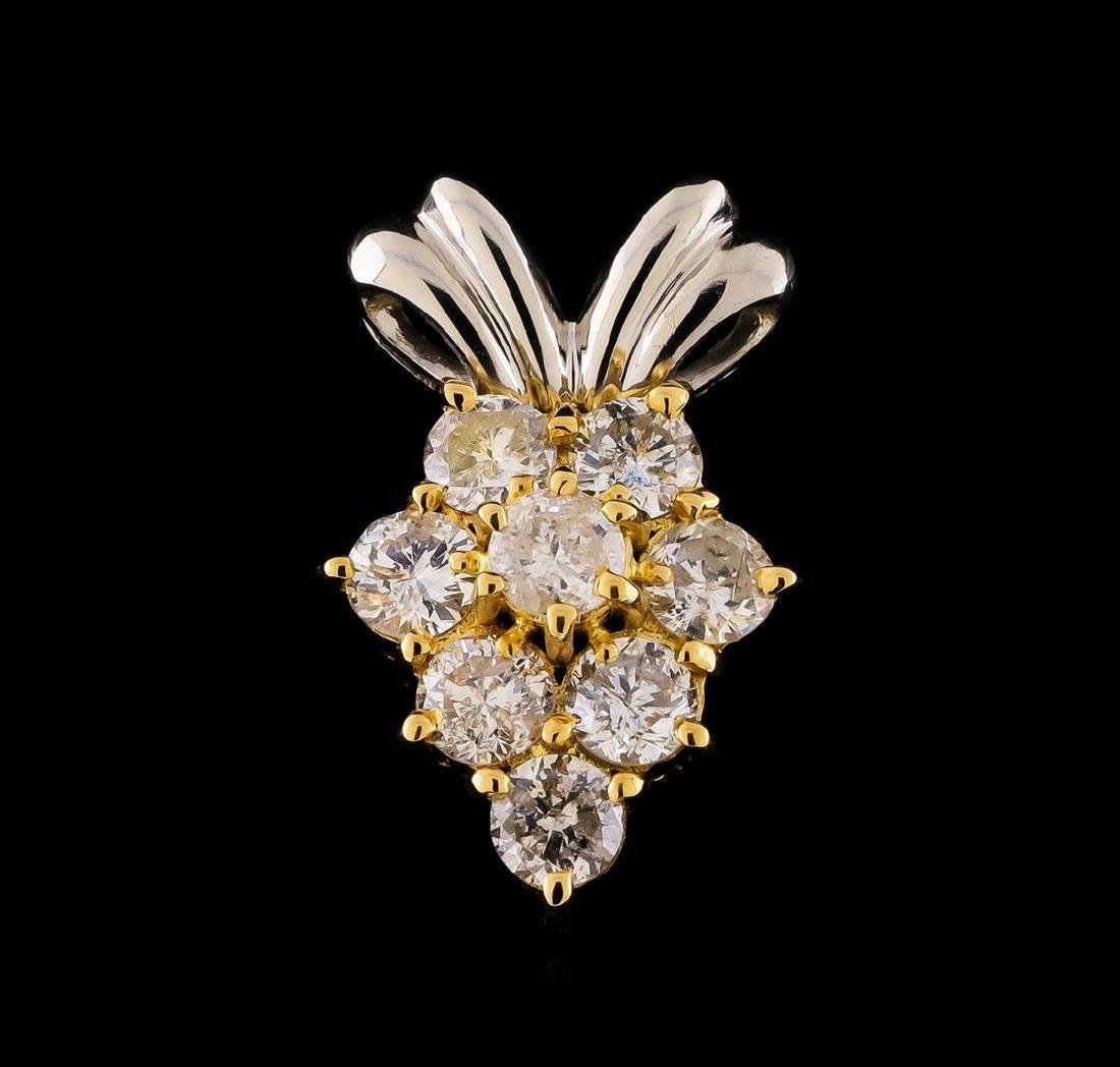 0.60 ctw Diamond Pendant - 18KT Yellow and White Gold