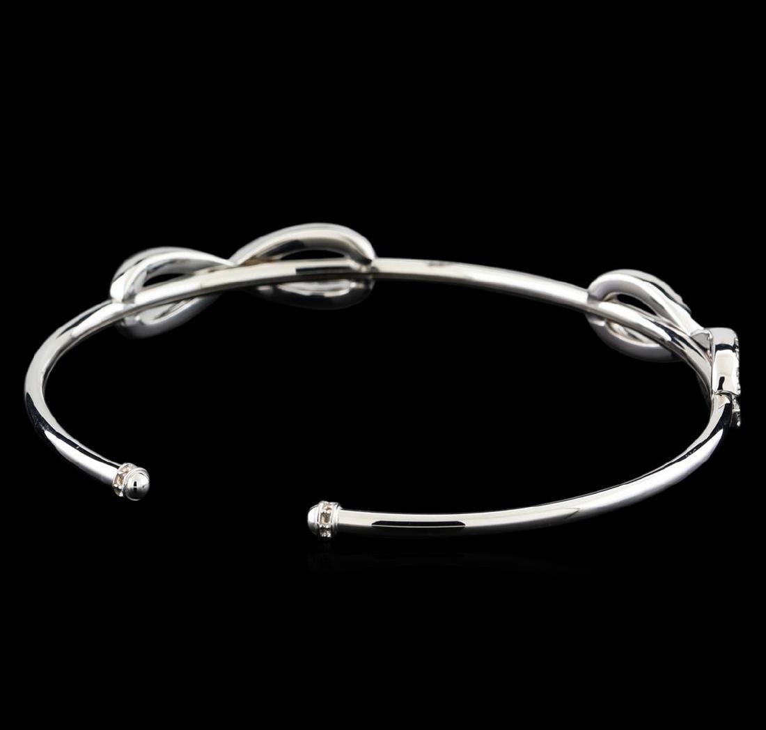 0.78 ctw Diamond Bracelet - 14KT White Gold - 2