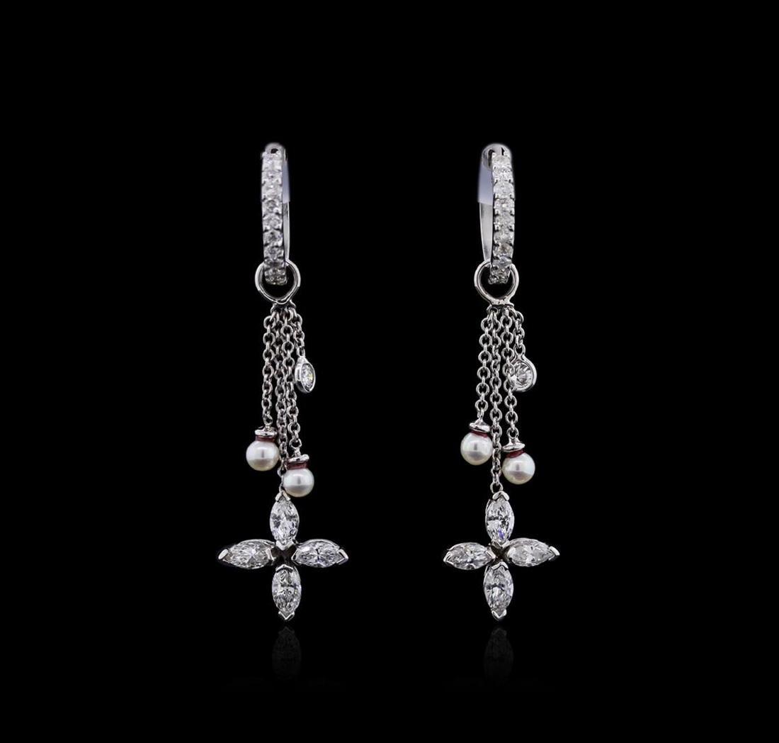 14KT White Gold 1.25 ctw Diamond Earrings
