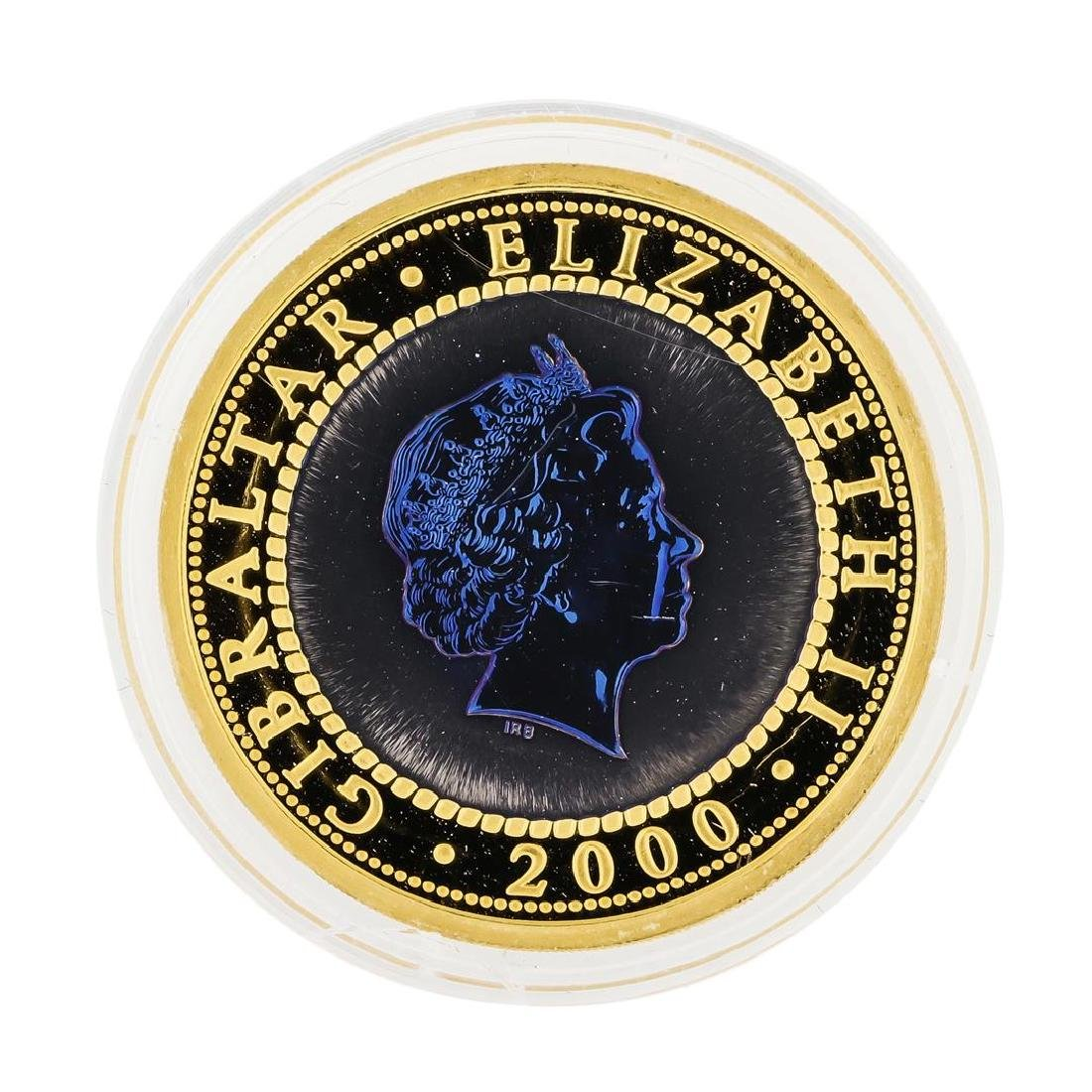 2000 Bi-Metal Gold and Titanium Tupenny Blue Crown 1oz