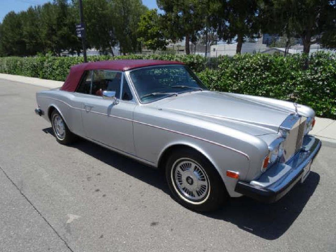 1983 Silver and Red Rolls Royce Corniche Convertible