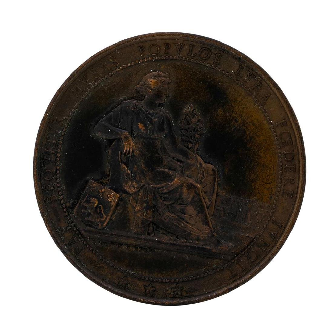 1864 France Lyon Music Competition 1864 Award Medal
