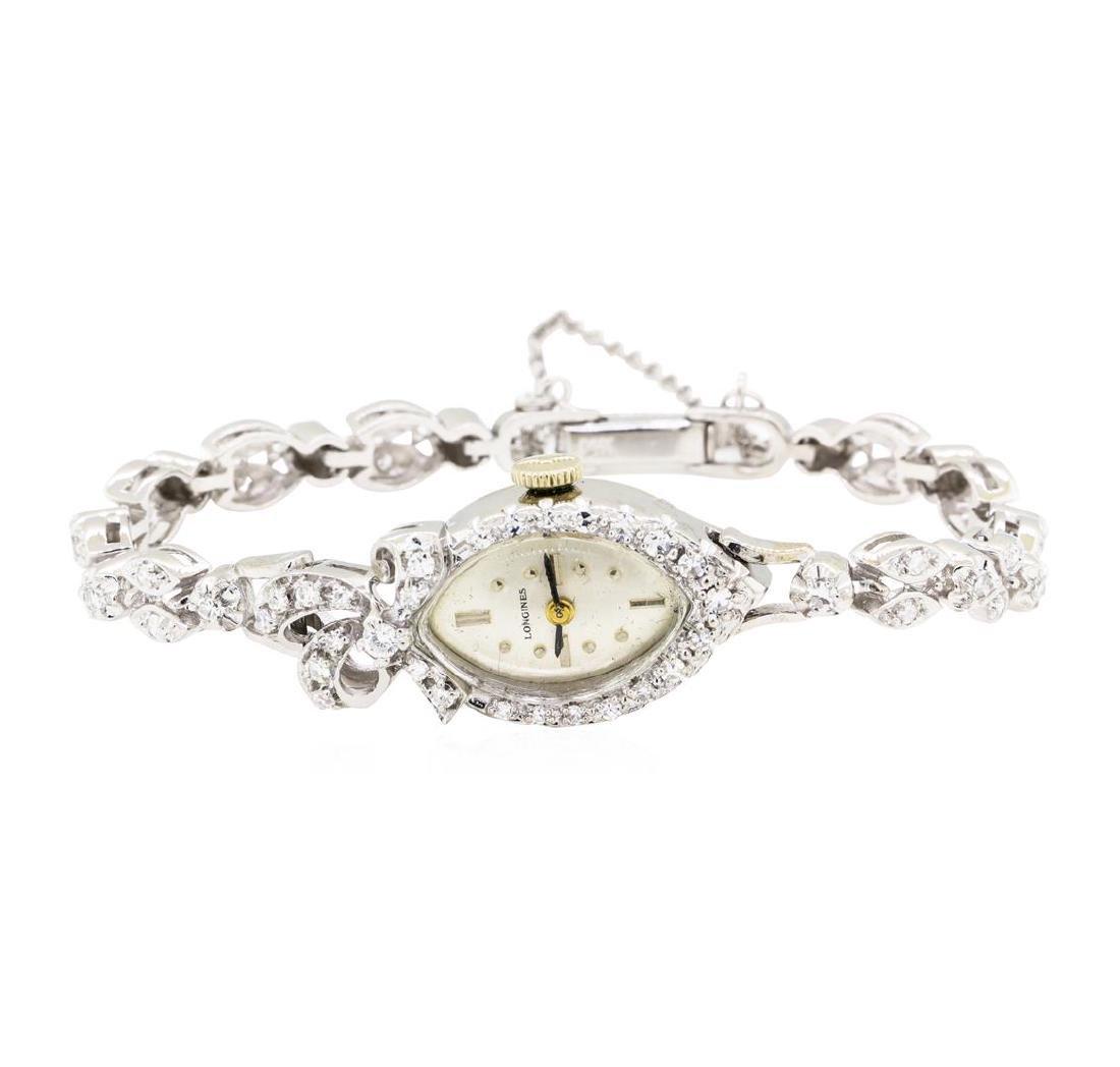 1.06 ctw Diamond Longines Lady's Wrist Watch