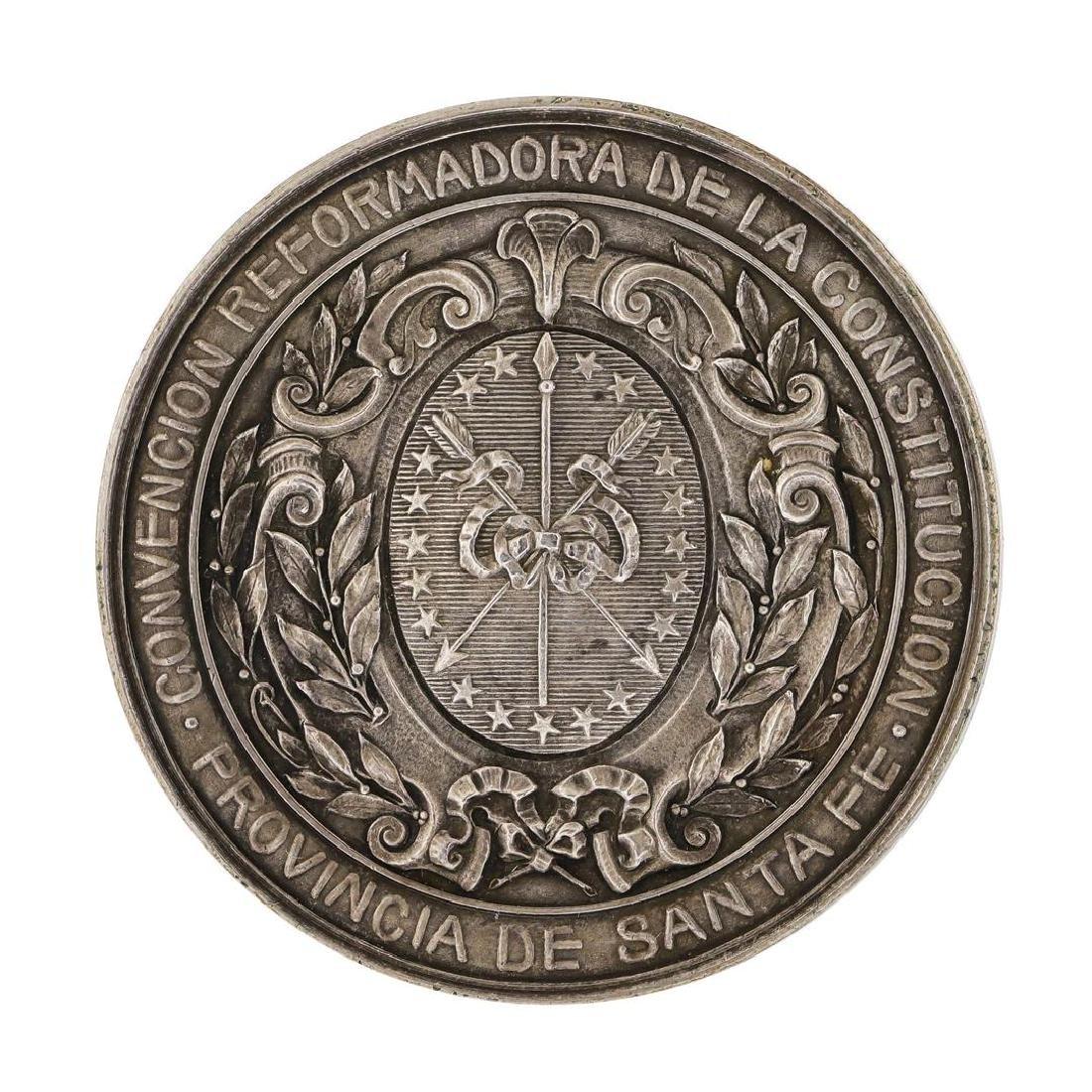 1907 Argentina Santa Fe Province Silver 4 oz Medal