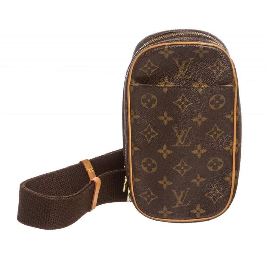 Louis Vuitton Monogram Canvas Leather Gange Crossbody
