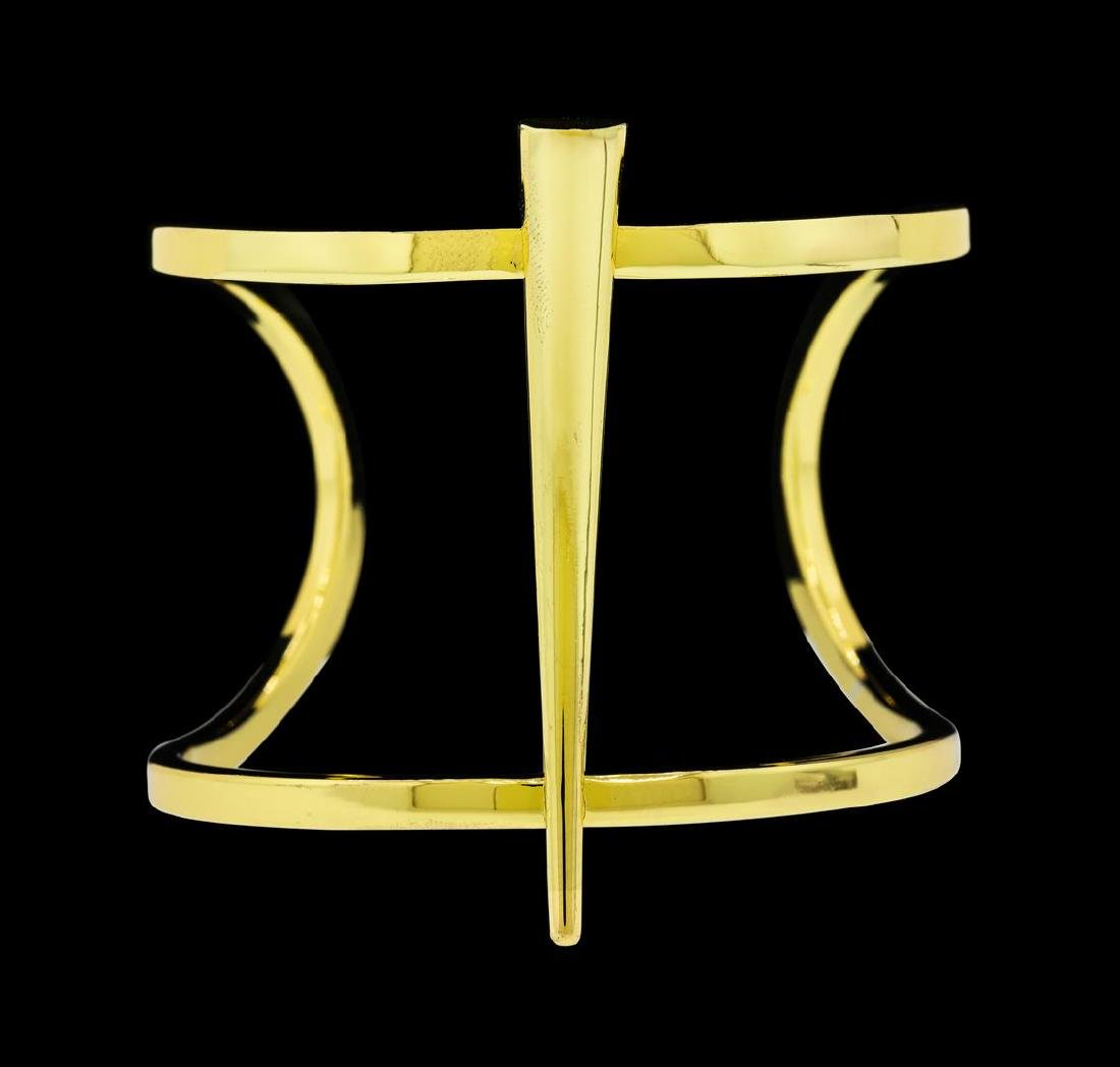 Long Spike Cuff Bracelet - Gold Plated