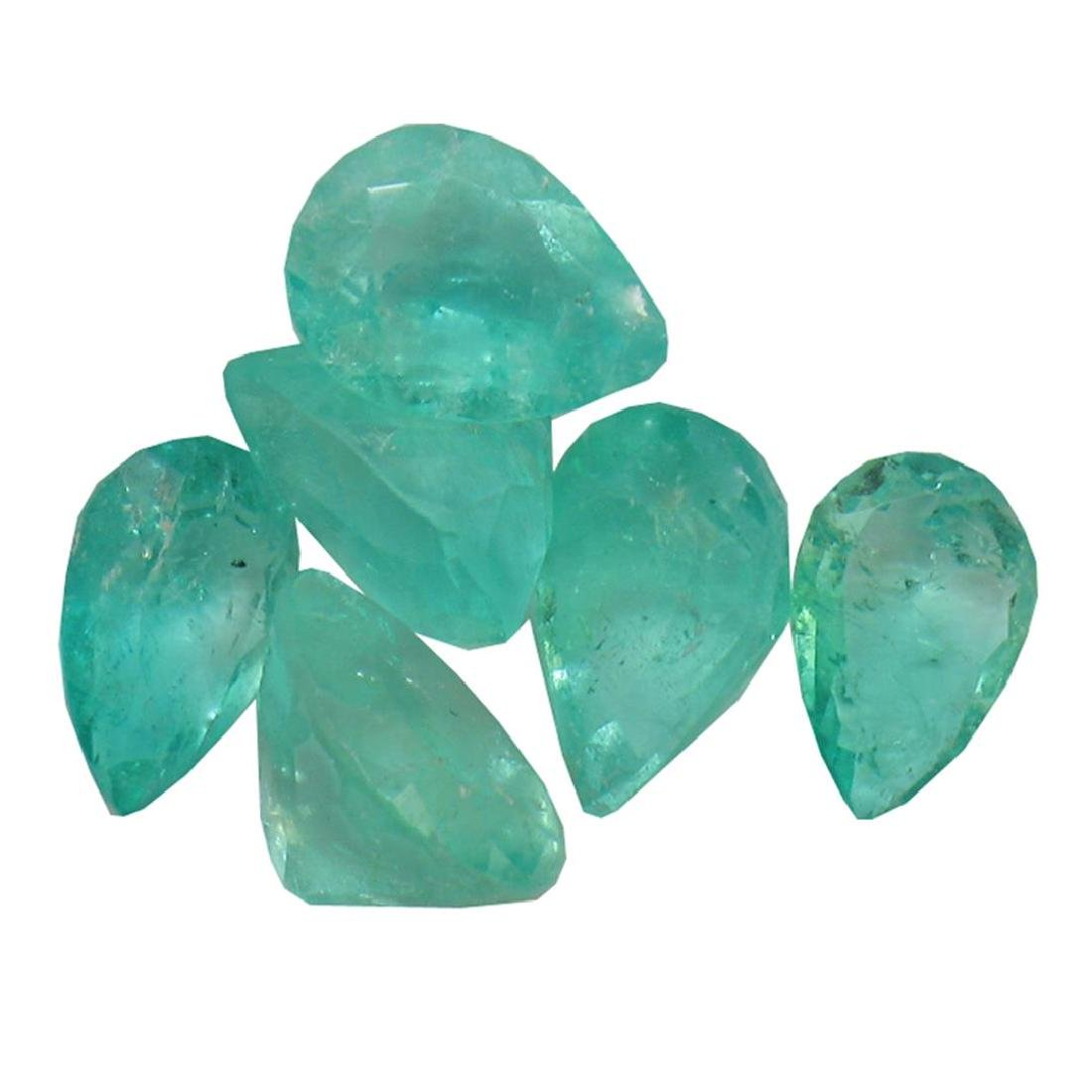 2.86 ctw Pear Mixed Emerald Parcel