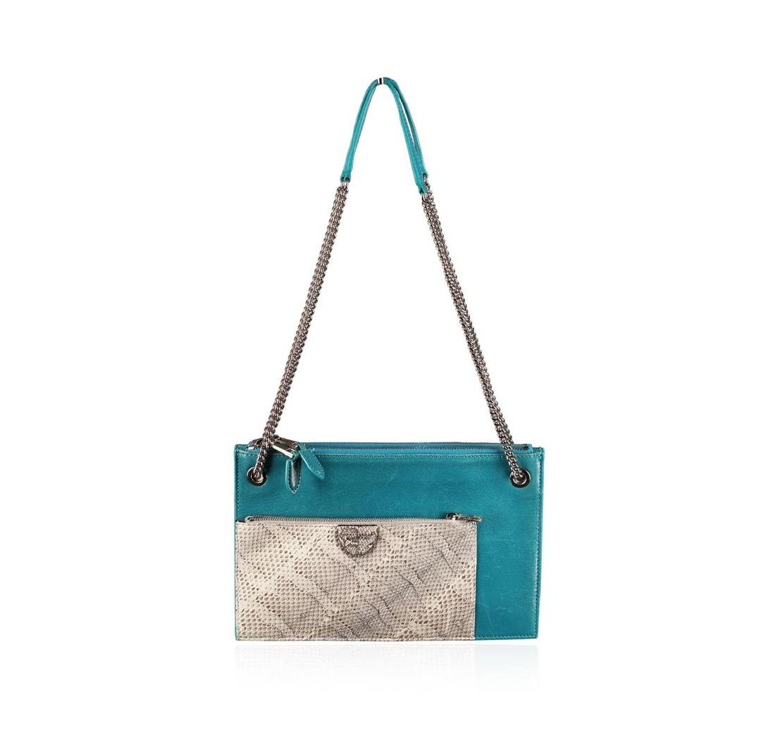 Designer Marc Jacobs Turquoise The Doll Bag