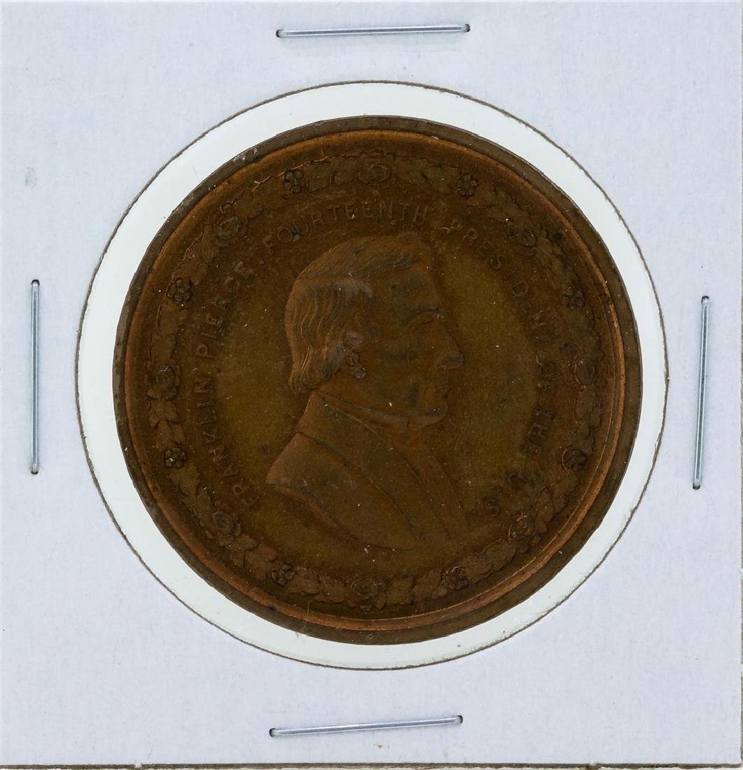 Circa 1880 Franklin Pierce George H Lovett Medal Red