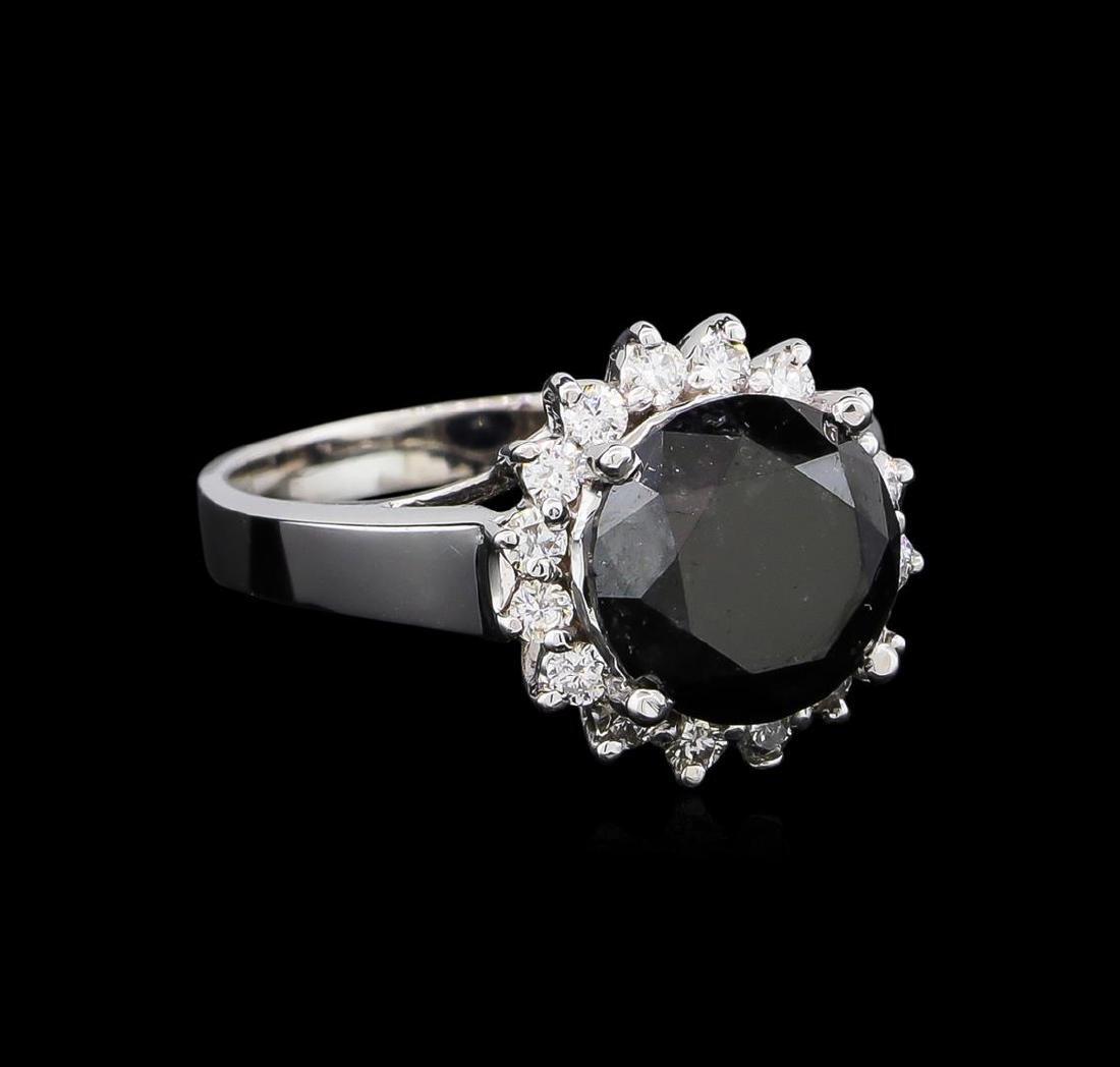 4.95 ctw Black Diamond Ring - 14KT White Gold