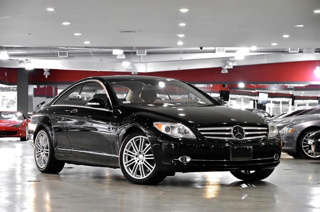 2008 Black Mercedes-Benz CL-Class CL600 Coupe