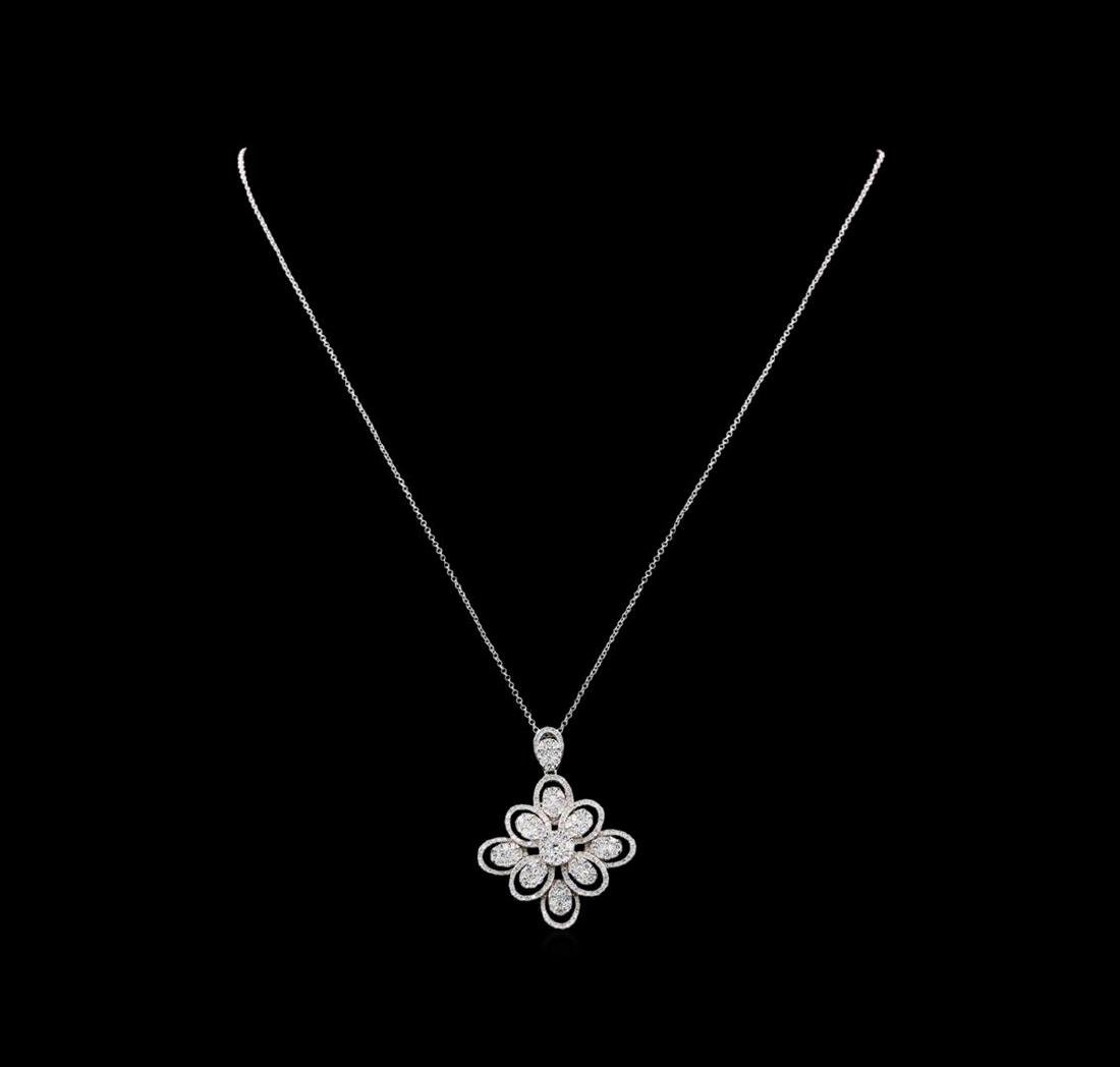 6.40 ctw Diamond Jewelry Suite - 14KT White Gold