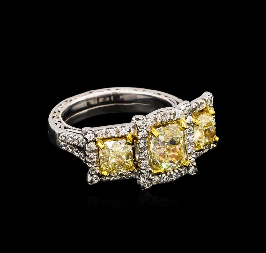 14KT Two-Tone Gold 4.21 ctw Diamond Ring