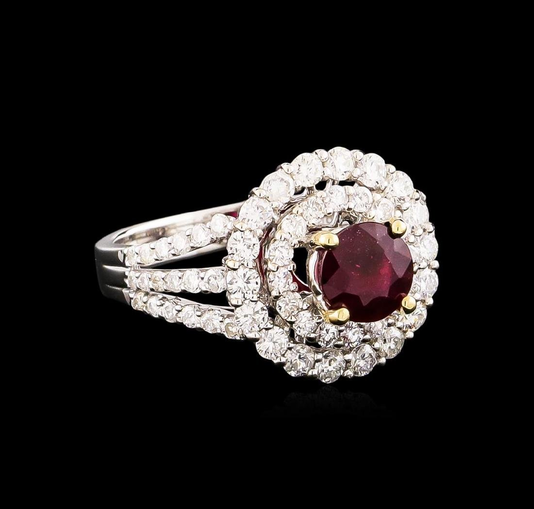 18KT White Gold 1.43 ctw Ruby and Diamond Ring