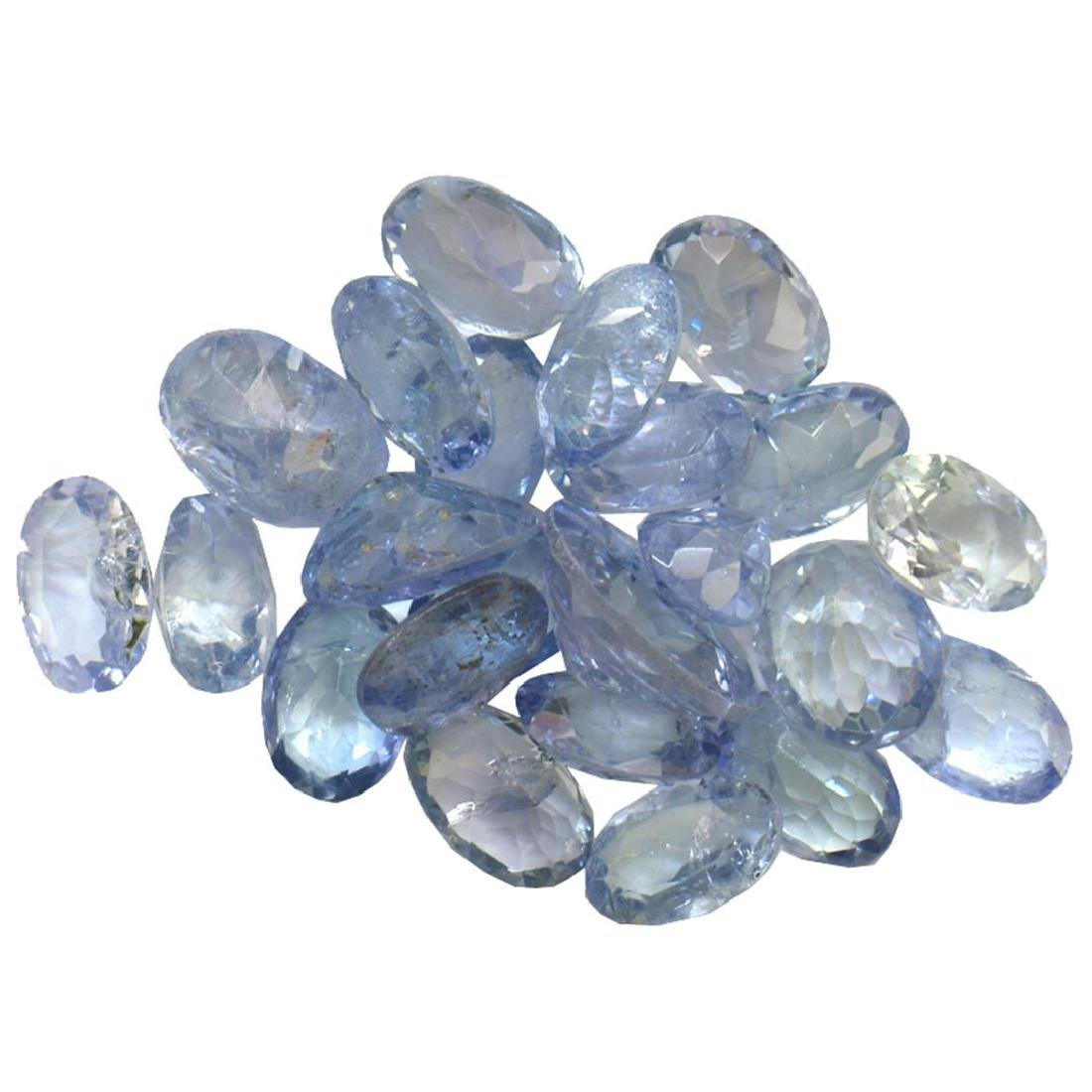 12.47 ctw Oval Mixed Tanzanite Parcel