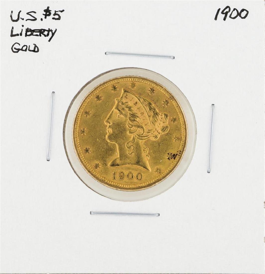 1900 $5 Liberty Head Half Eagle Gold Coin