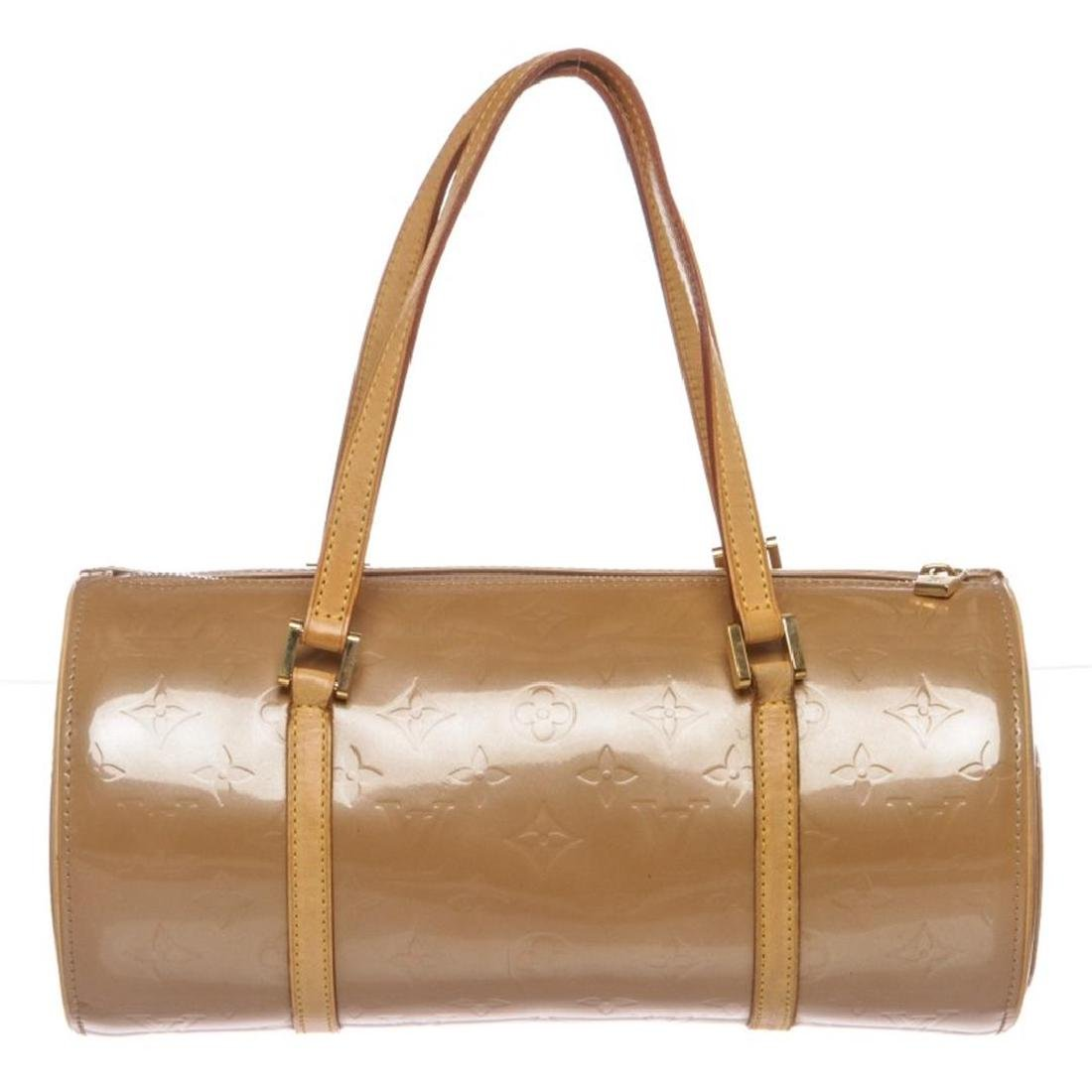 Louis Vuitton Beige Vernis Leather Bedford Barrel Bag