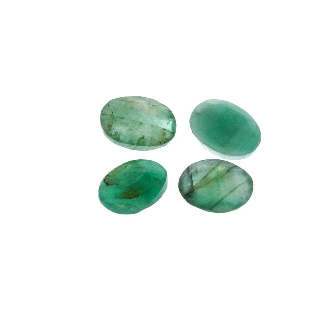 4.39 cts. Oval Cut Natural Emerald Parcel