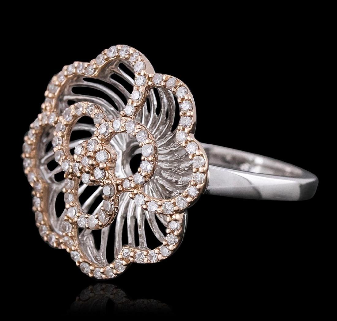 14KT Two-Tone Gold 0.50 ctw Diamond Ring