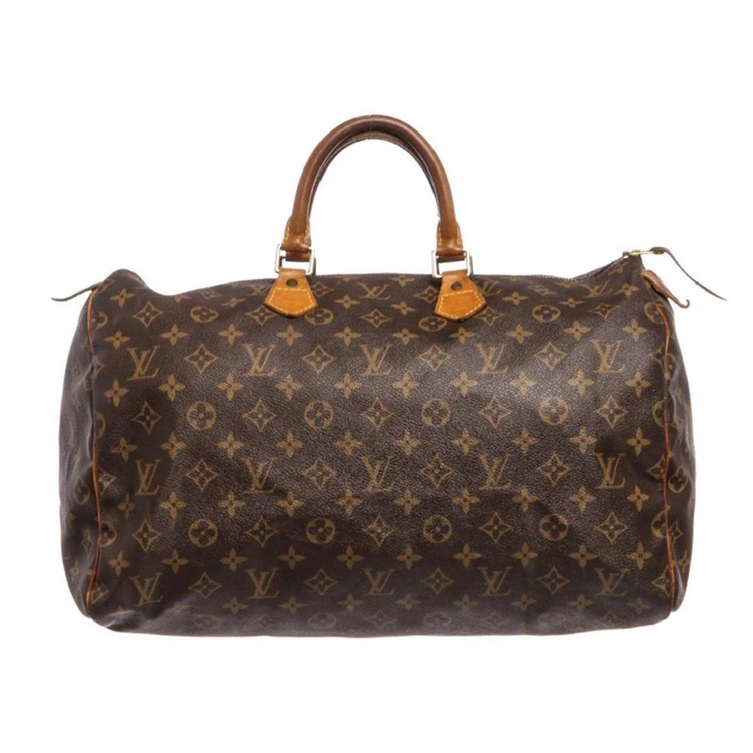Louis Vuitton Monogram Canvas Leather Speedy 40 cm Bag