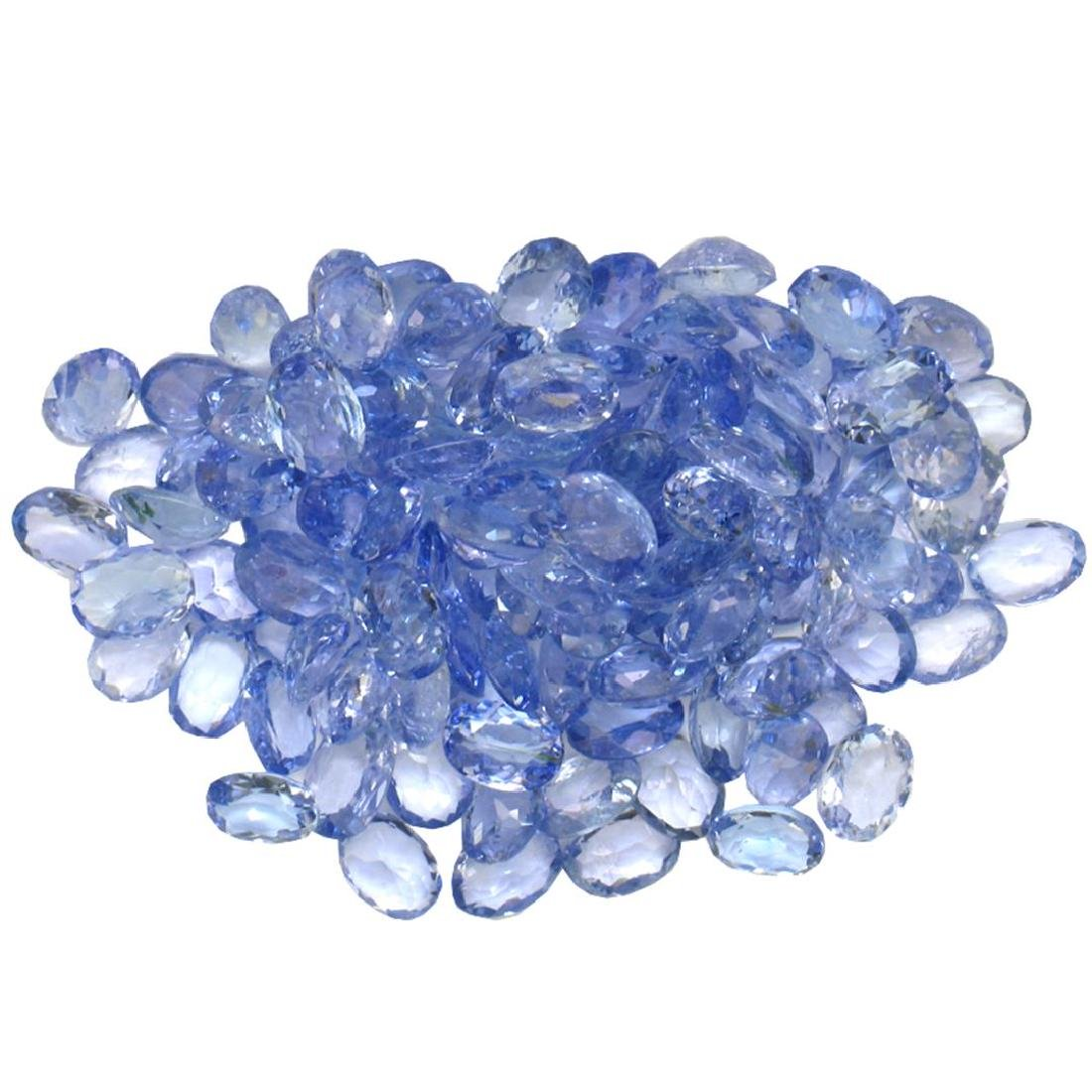15.4 ctw Oval Mixed Tanzanite Parcel