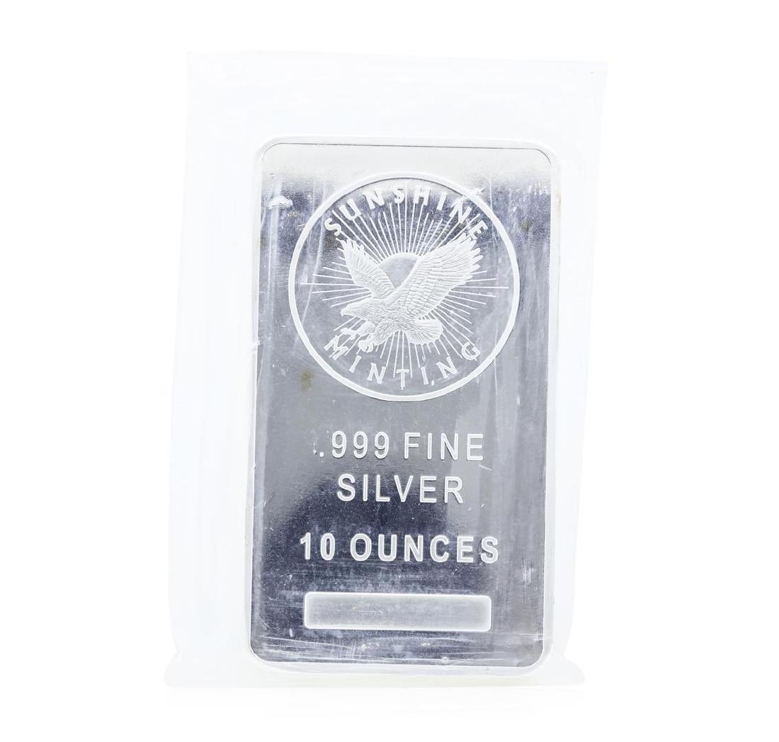 Sunshine Minting 10 Ounce .999 Fine Silver Bar