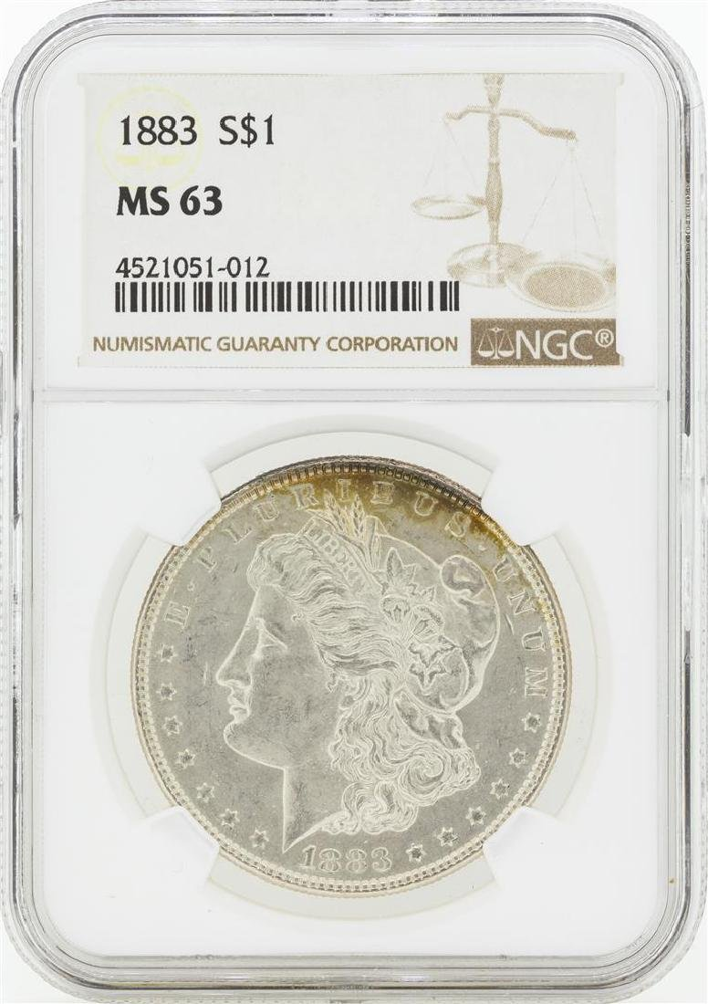 1883 MS63 NGC Morgan Silver Dollar