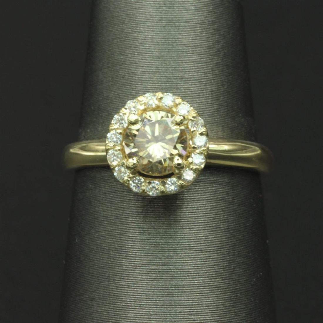 0.90 ctw Diamond Wedding Ring - 14KT Yellow Gold
