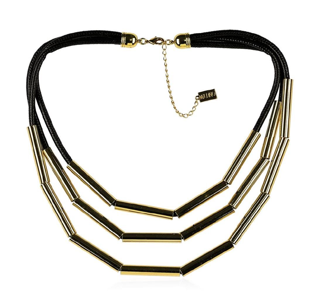 Strand Cord Necklace - Gold Plated