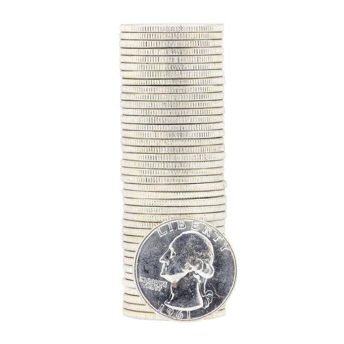Tube of 40 1961D Washington Quarter Dollars