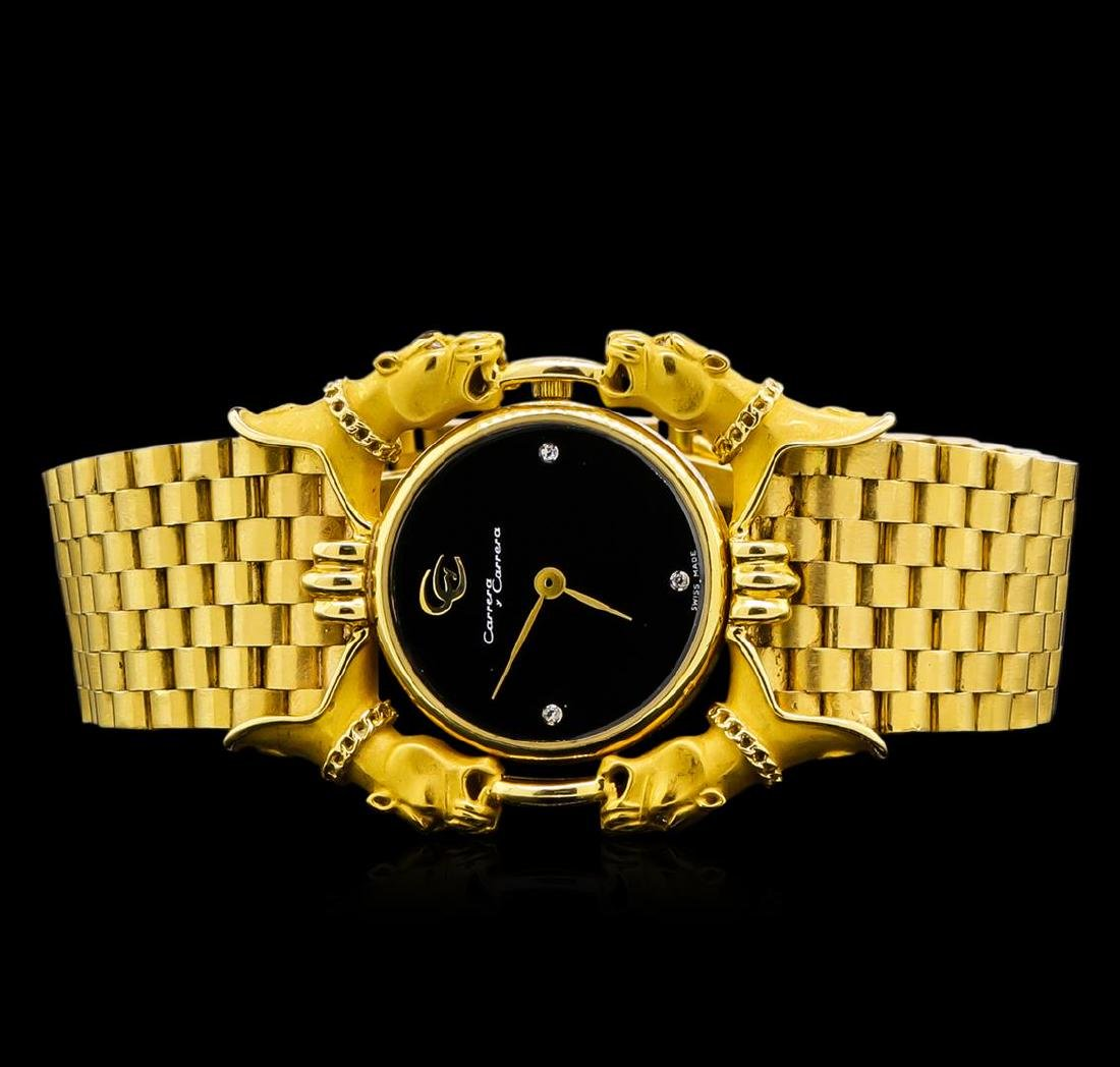 Carrera y Carrera 18KT Yellow Gold Panthere Watch