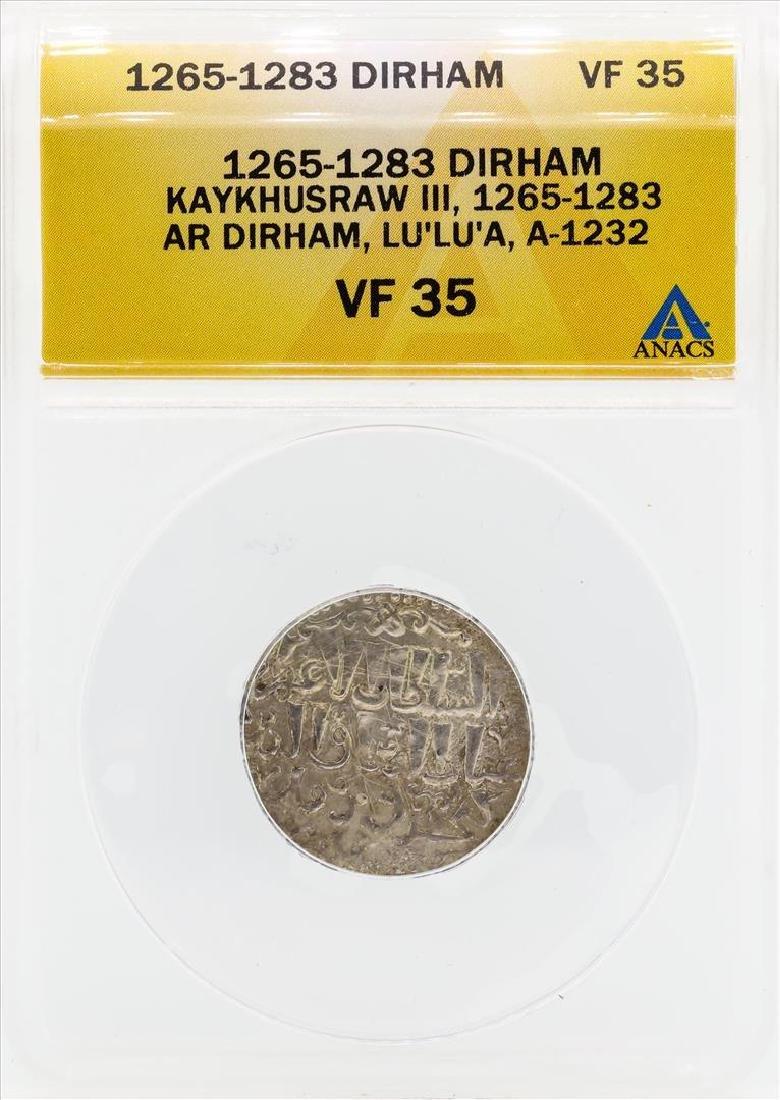 1265-1283 Dirham Kaykhusraw III Coin ANACS VF35