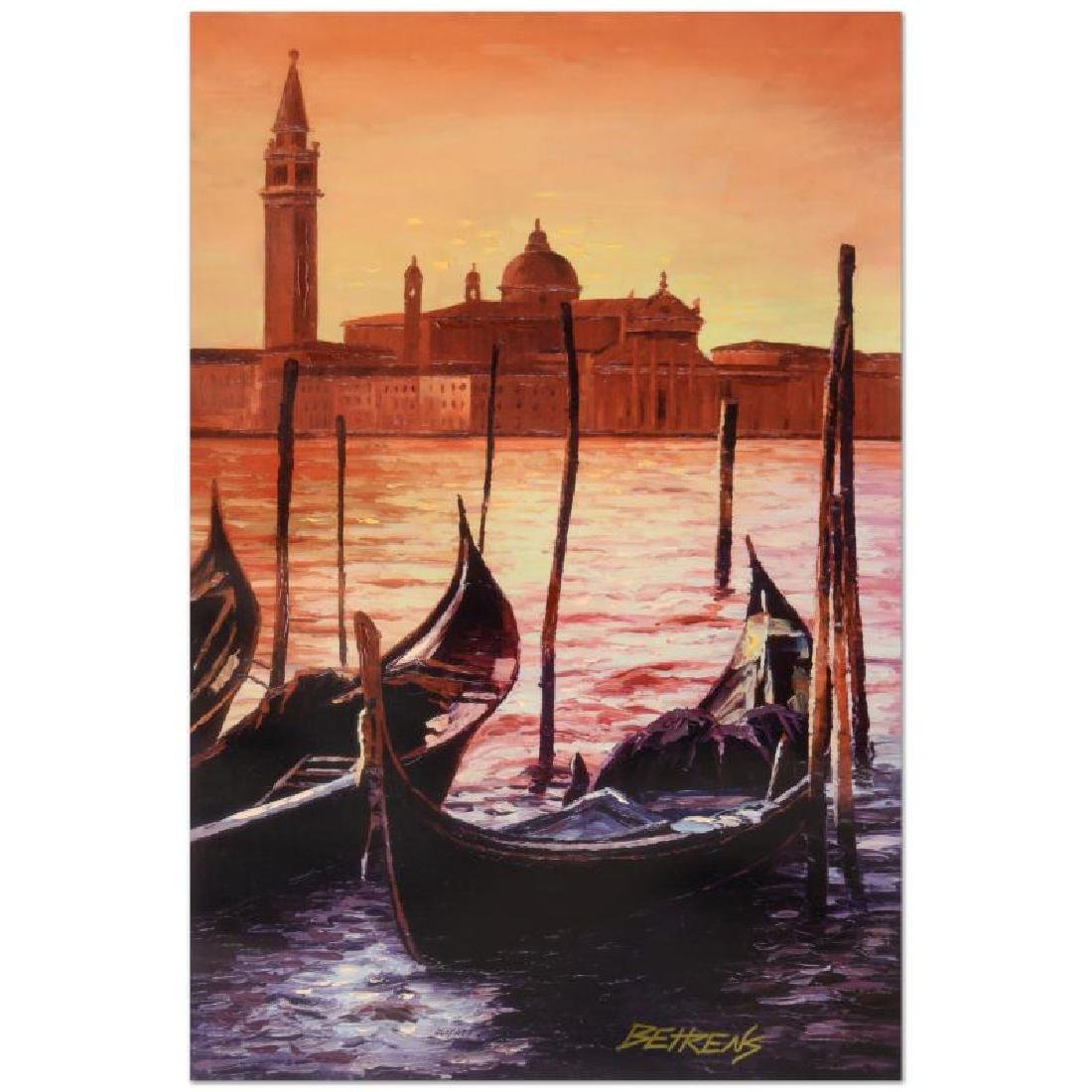 Sunset on the Grand Canal 4 by Behrens (1933-2014)