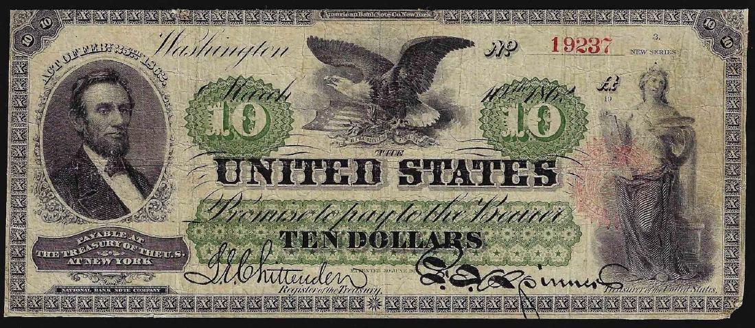 1862 $10 Legal Tender Note