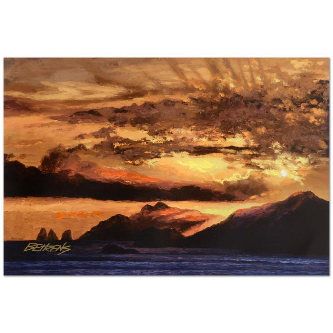 Sunset Over Capri by Behrens (1933-2014)
