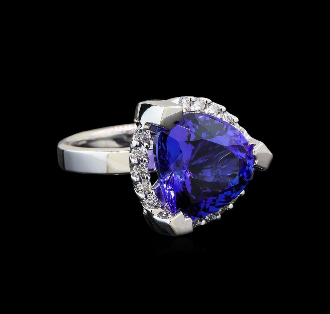 GIA Cert 8.52 ctw Tanzanite and Diamond Ring - 14KT