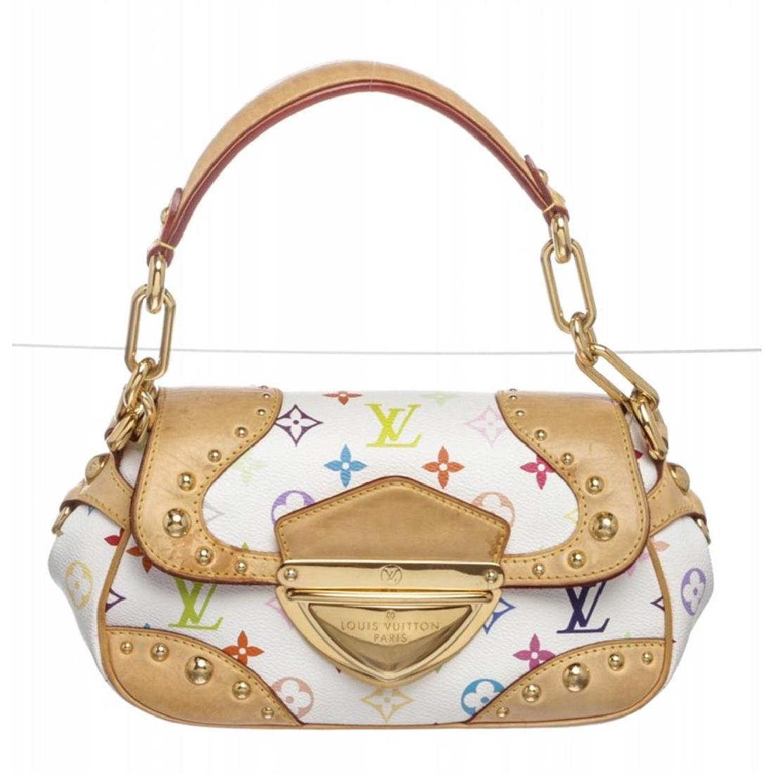 Louis Vuitton White Multicolor Monogram Marilyn Handbag