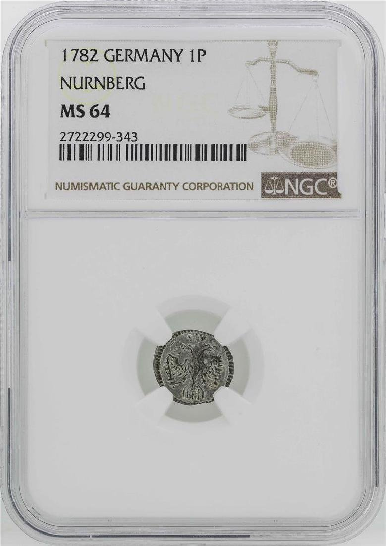 1782 Germany Nurnberg Pfennig Coin NGC MS64