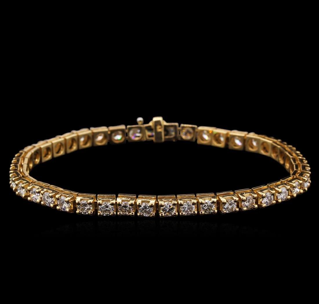 6.05 ctw Diamond Bracelet - 14KT Yellow Gold