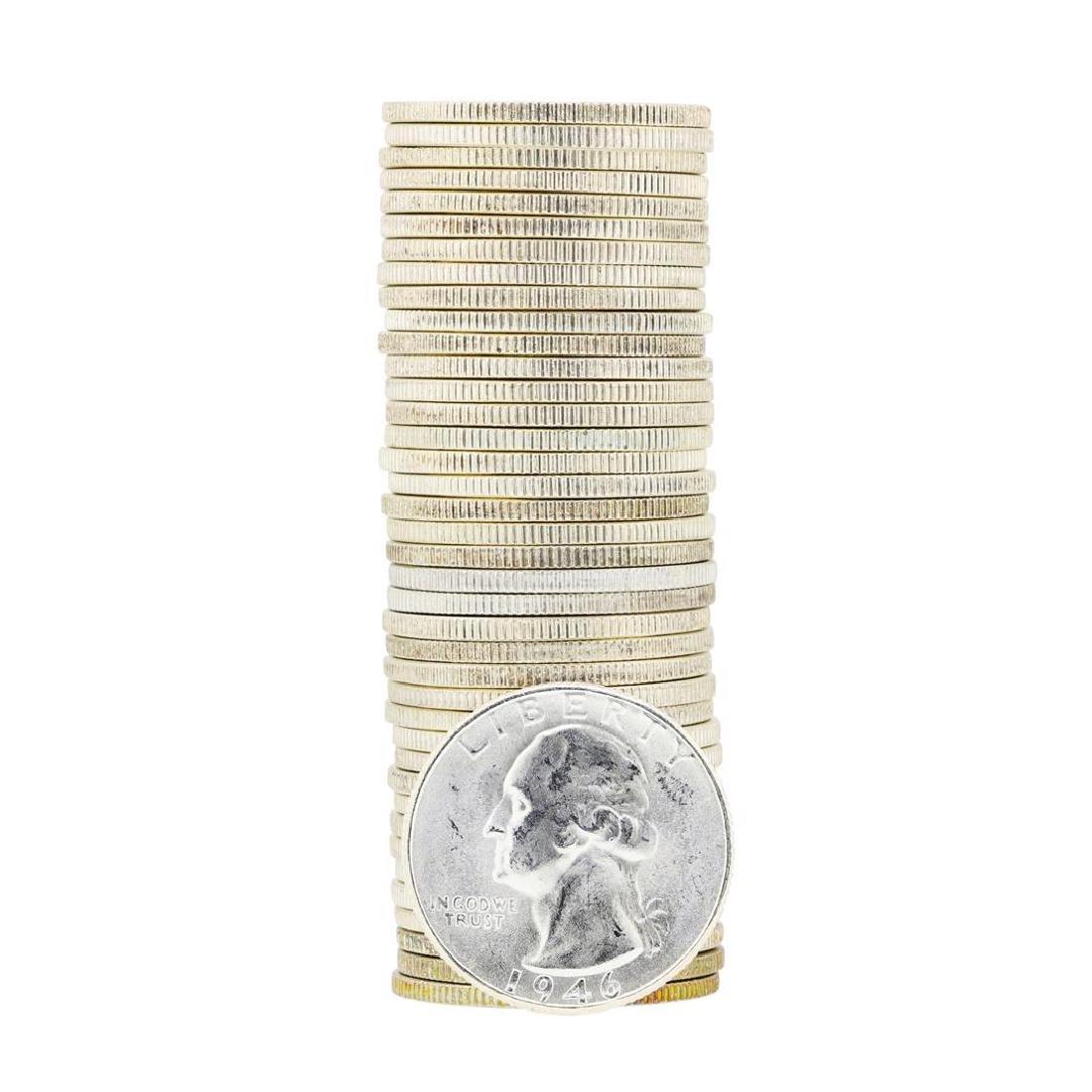Tube of 40 1946S Washington Quarter Dollars