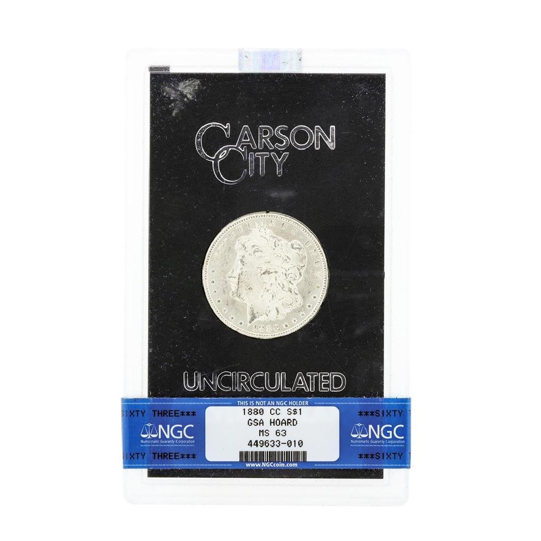 1880 MS63 Carson City Uncirculated Silver Dollar