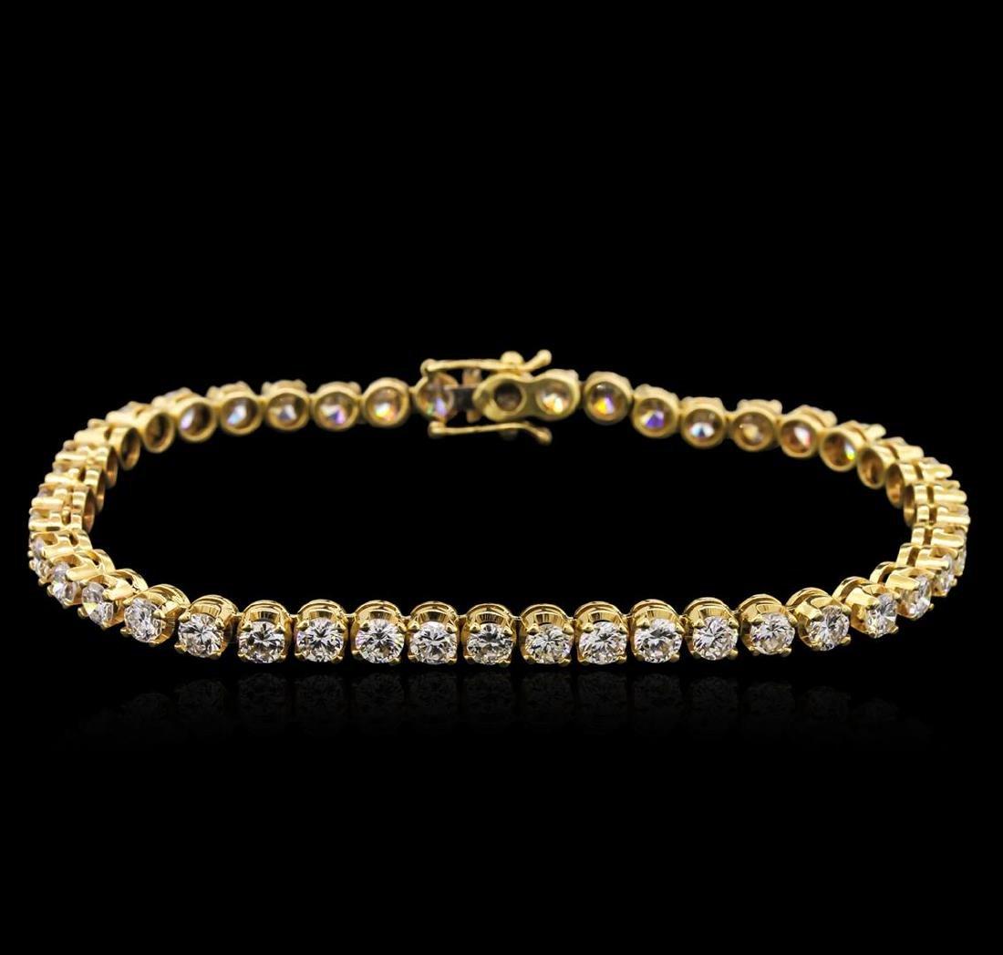6.00 ctw Diamond Tennis Bracelet - 14KT Yellow Gold
