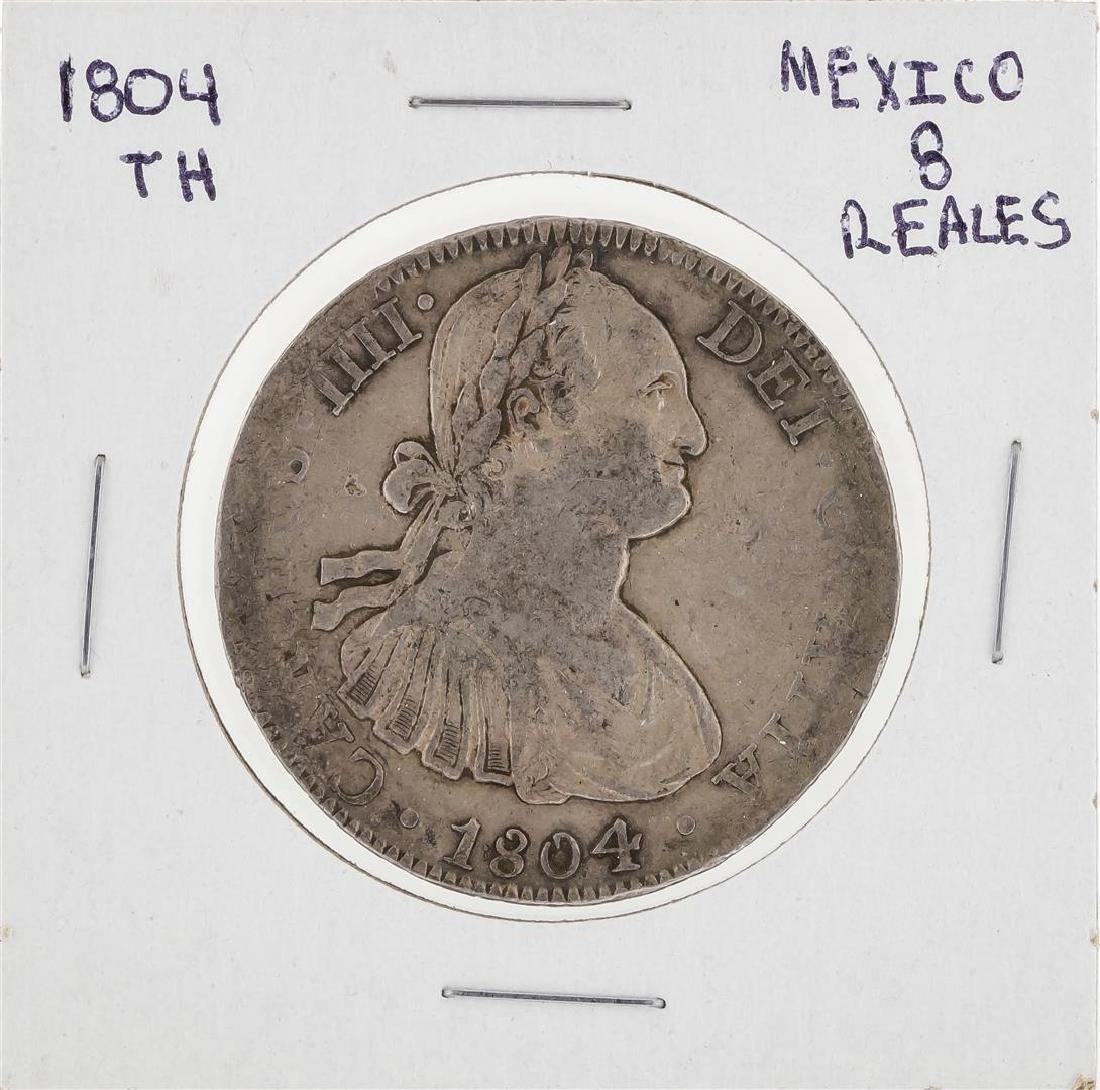 1804 TH Mexico 8 Reales Coin