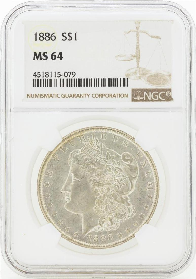 1886 MS64 NGC Morgan Silver Dollar