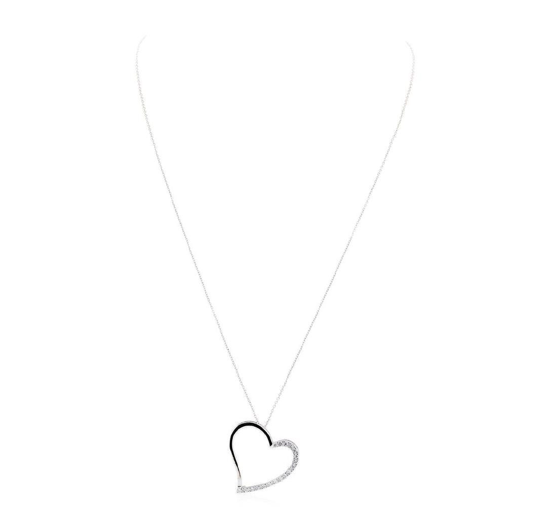 0.35 ctw Diamond Heart Shaped Pendant with Chain - 14KT